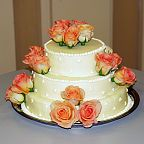 Floral decoration for the wedding cake (680)
