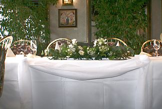 Decoration for the wedding table